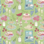 Lewis & Irene Picnic In The Park - 4694 - Picnic on Green - A153.3 - Cotton Fabric
